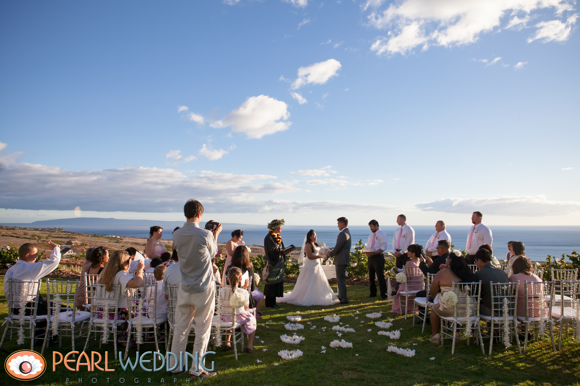 Ceremony on the Infinity Lawn.