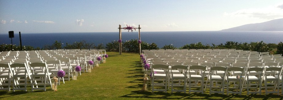 Maui Wedding Ceremony Lavendar orchids